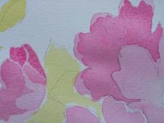 Jim's Watercolor Gallery - Painting Flowers in Watercolor  Tutorial including lesson on varying soft and hard lines