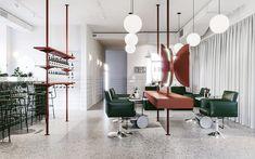 Interior design and architecture for Odes Salon by Evgeniy Bulatnikov and Emil Dervish See more: http://mindsparklemag.com/design/odes-salon-interior-design/ More news: Like Mindsparkle Mag on Facebook