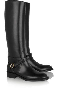 SAINT LAURENT Cavaliere buckled leather riding boots - Absolutely GORGE!!!