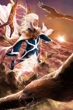 Manwe, King of Arda by skinnyuann on DeviantArt