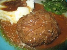 Crockpot Salisbury Steak... this was very easy to make and packed full of flavor.  Find this recipe and more at Chicky's Cafe and Bowtique.