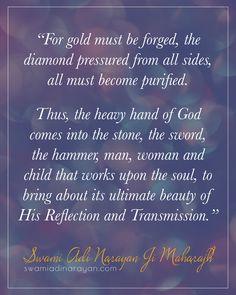 The Heavy Hand of God ~ Swami Adi Narayan Ji Maharajh Spiritual Teachers, Spiritual Wisdom, Reflection, Spirituality, God, Dios, Spiritual, Praise God, The Lord