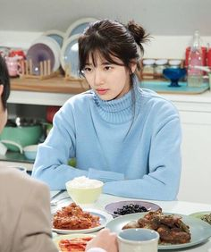 Who are you looking at, Suzy? Bae Suzy, Kim Woo Bin, Uncontrollably Fond Kdrama, Suzy Drama, Korean Girl, Asian Girl, Miss A Suzy, Korean Actresses, Celebs
