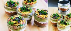 seven layer mini dips