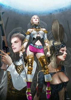 Balthier, Ashe, and Fran. Final Fantasy XII