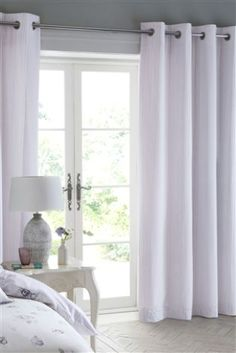 Buy Cotton Rich Lined Eyelet Curtains from the Next UK online shop