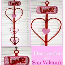 Decoración sencilla para San Valentín