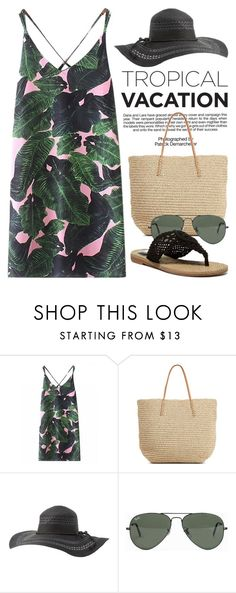 """""""Let's make it Tropical 1761"""" by boxthoughts ❤ liked on Polyvore featuring Industrie, Target, Charlotte Russe, Ray-Ban and MIA"""
