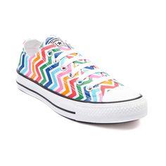 3599ec1b6a73b Shop for Youth Converse All Star Lo Multi Chevron Sneaker in White Multi at  Journeys Kidz.
