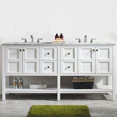 Beachcrest Home Caldwell 72 Double Bathroom Vanity Set Base Bathroom Red, Beach Bathrooms, Bathroom Doors, Single Bathroom Vanity, Bathroom Flooring, Bathroom Furniture, Master Bathroom, Bathroom Vanities, Bathroom Ideas