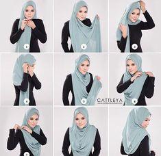thinking of, hijab for office wear. Square Hijab Tutorial, Simple Hijab Tutorial, Pashmina Hijab Tutorial, Hijab Style Tutorial, Scarf Tutorial, Hijab Fashionista, Stylish Hijab, Hijab Chic, Hijab Dress