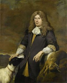 Portrait of a man, possibly Jacob de Graeff, ships of Amsterdam in 1672. 1670 Painting by Karel Dujardin | Oil Painting