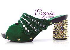 56.28$  Buy here - http://ali30c.worldwells.pw/go.php?t=32605384446 - Italy Design 2016 New Fashion Women High Heel Platform Women Formal Pumps CT1605 Green 56.28$