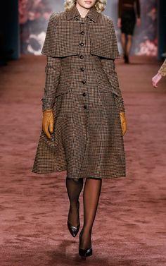Lena Hoschek's Sherlock Coat Look 25 on Moda Operandi from The Brits Collection