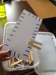 Another awesome collection of low cost DIY ideas for your special education calssroom. Another awesome collection of low cost DIY ideas for your special education calssroom. Low Functioning Autism, Vocational Tasks, Work System, Work Task, Busy Boxes, Autism Resources, Special Education Activities, Preschool Autism Activities, Fine Motor