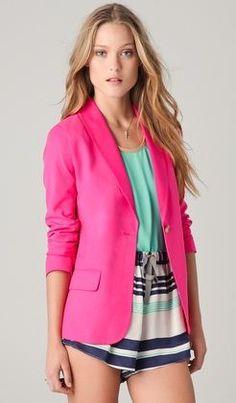 New Sammi Pink Blazer via www.zoolz.com