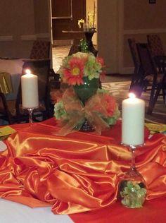 Orange and green wedding