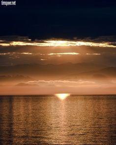 Sunrise. Inside Passage, British Columbia.