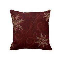 Snowflake Swirls Throw Pillows