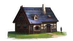 Medieval houses, OKU (K.I Kim)