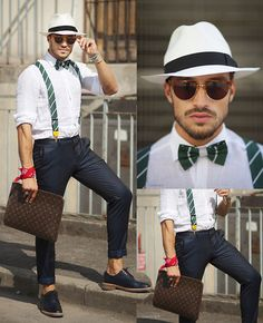 Borsalino, Louis Vuitton Pochette, Aglini Shirt, Shoes Blue, Mdv Style