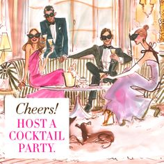 Cheers! Host a cocktail party. #31DAYSOFHB