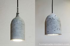 How to: Make a Modern Industrial  Concrete Pendant Lamp