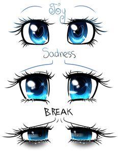 Anime Drawings Sketches, Anime Sketch, Kawaii Drawings, Art Drawings, Cartoon Faces, Cartoon Art, Chibi Eyes, Galaxy Eyes, Drawing Expressions