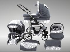 Magic-Dino-3-in-1-Travel-System-Pram-Pushchair-Stroller-Buggy