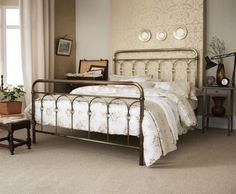 Shilton Antique Brass Bed Frame, perfect for that retro styled bedroom!