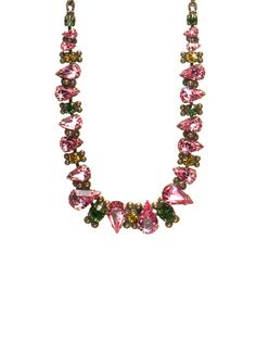 Alternating Crystal Teardrop Necklace in Hibiscus by Sorrelli - $180.00 (http://www.sorrelli.com/products/NCK13AGHIB)