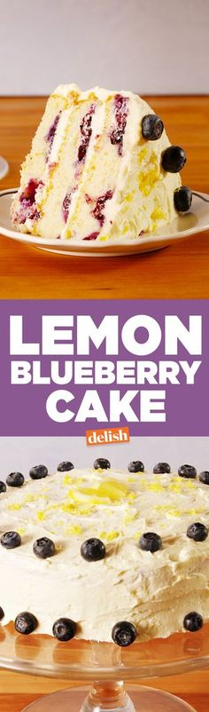 Lemon Blueberry CakeDelish