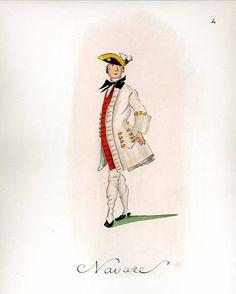 CHURCHILL: French Army 1735 - Infantry Regiment Navarre, by Gudenus.