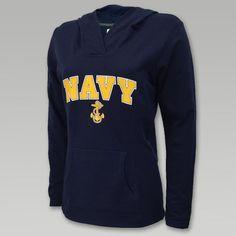 Navy Ladies Arch Hood