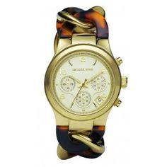 MK4222 Michael Kors horloge dames | Goud Tortoise 2013