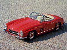 red 1957 Mercedes Benz 300 SL-R convertible. Mercedes Benz 300, Mercedes Auto, Mercedes Cabrio, Old Mercedes, Classic Mercedes, Nissan Gt R, Nissan 370z, Mercedes Convertible, Maserati