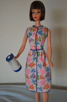 vintage 1965-66 Barbie Brunch Time or Coffee's On variation dress