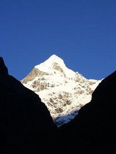Neelkanth Parbat [ Mountain ] from Badrinath, Uttarkhand, India.