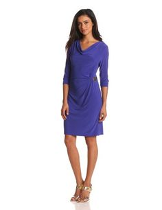 Calvin Klein Women's 3/4 Sleeve Dress with Hardware | Traveling Of Life
