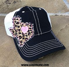 Texas Love Baseball Cap in Leopard and Hot Pink www.gugonline.com  19.95  Leopard 4fb638d37bee