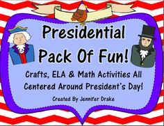 President Pack Of Fun!  ELA & Math Supplement Activities that are CC Aligned! from Jennifer Drake on TeachersNotebook.com (23 pages)