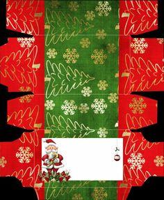 Caja rectangular para Navidad.