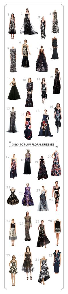 Onyx to Plum   The top 160 floral dresses from Snippet & Ink!