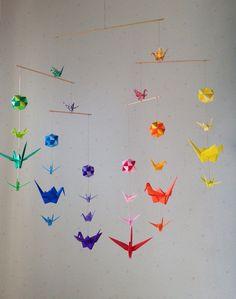 Mescolare Sized Origami Mobile arcobaleno 22 gru e 6 di makikomo