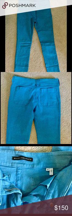 Balenciaga pants Teal blue denim pants.  98% cotton, 2% elastan Balenciaga Jeans Skinny