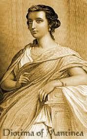 Diotima es un personaje que juega un papel muy importante en El Banquete de Platón. Sus ideas son el origen del concepto de amor platónico. A pesar de todo, no desdeña el papel de la belleza.1 Si hemos de confiar en lo que nos dicen varios autores, habría correspondido a un personaje real