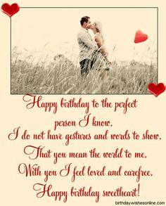 Birthday Wishes For Husband Romantic Messages