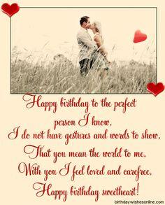 Beautiful Birthday Wishes For Husband