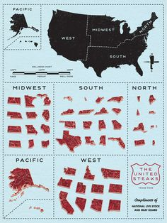 For the love of meat and this country, get this poster Kickstarted: United Steaks by Jamie Reed.