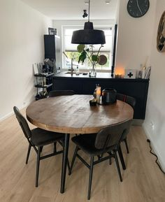 Best Online Furniture Stores, Affordable Furniture, Kitchen Gallery Wall, Wood Slab Table, Industrial Dining, Design Your Kitchen, Dining Table Chairs, Dining Room Design, Home Furniture